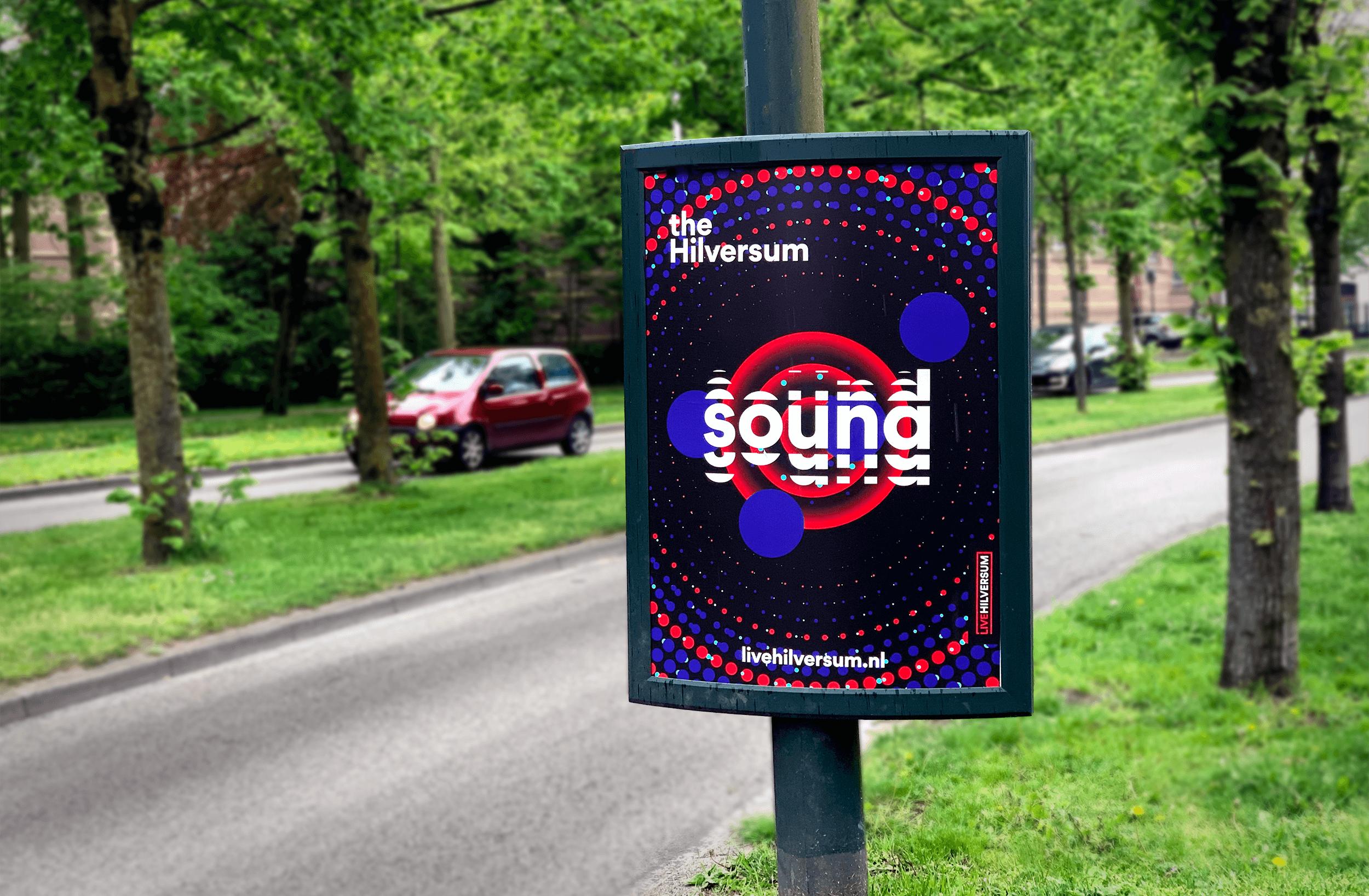 A0 bord The Hilversum Sound Campagne Hilversum